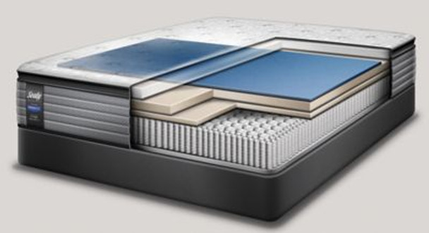 """Sealy Response Performance 13.5"""" Queen Plush Pillowtop Mattress with 5"""" Low Profile Foundation Set-3786118"""