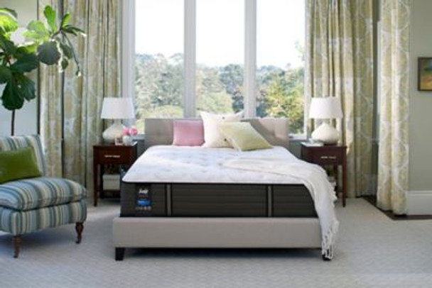 "Sealy Response Premium 13"" Queen Plush Tight Top Mattress with 9"" High Profile Foundation Set-3786142"