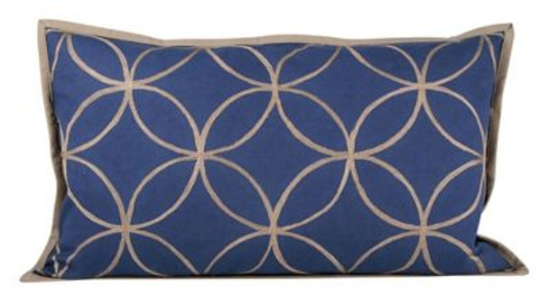 "Indigo Dream 20""x12"" Pillow-3886771"