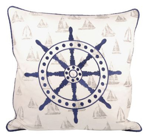 "Captain's Wheel 20""x20"" Pillow-3886792"