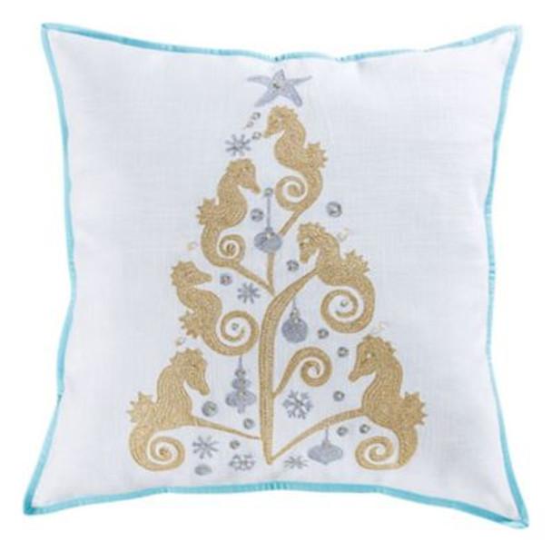 "Coastal Christmas 24""x24"" Pillow -3886867"