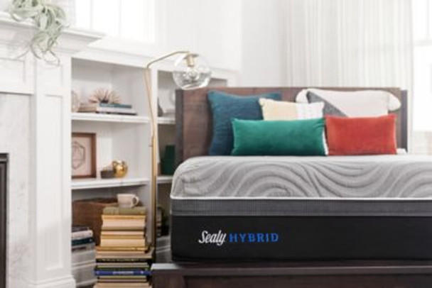 """Sealy Hybrid Performance Copper ll 13.5"""" Full Plush Mattress with 9"""" High Profile Foundation Set-3897991"""