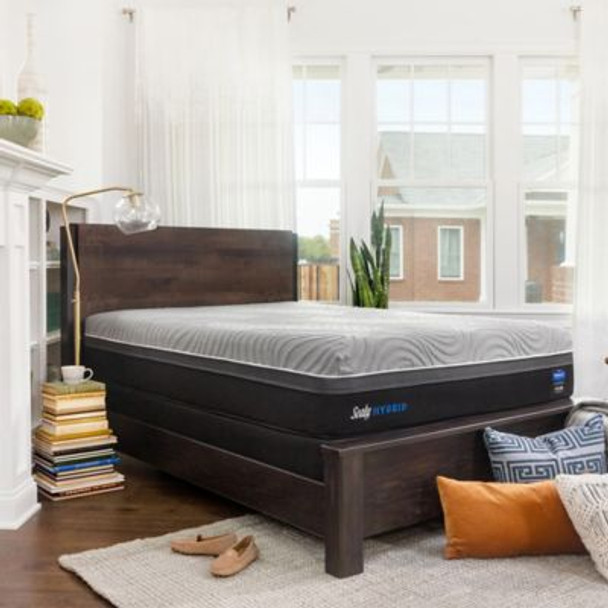 "Sealy Hybrid Performance Copper ll 13.5"" King Firm Mattress with 5"" Low Profile Foundation Set-3898024"