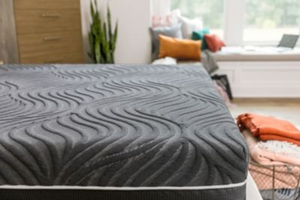 "Sealy Hybrid Premium Silver Chill 14"" Full Plush Mattress with 5"" Low Profile Foundation Set-3898037"