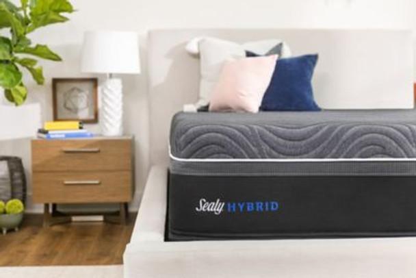 "Sealy Hybrid Premium Silver Chill 14"" California King Plush Mattress-3898071"