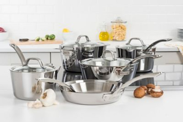 Contemporary Stainless Steel Cookware Set-3901306