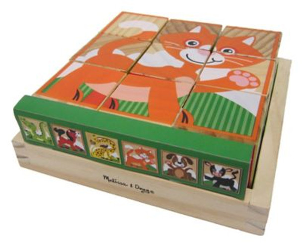 My First Wooden Cube Puzzle - Animals-3931131