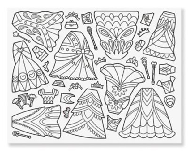 Color-Your-Own Sticker Pad - Dress-Up-3931250