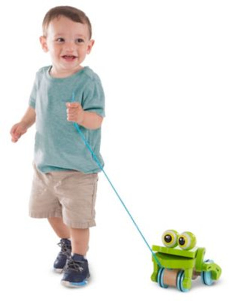 First Play Frolicking Frog Pull Toy-3941100