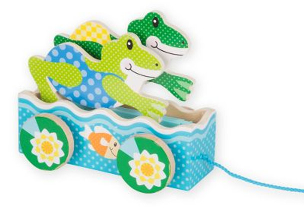 First Play Friendly Frogs Pull Toy-3941104