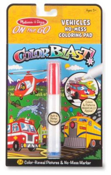 Vehicles Colorblast Book-On the Go Travel Activity-3941114