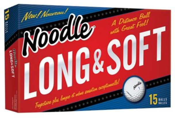 Noodle Long and Soft Golf Balls - 15 Pack-4035855