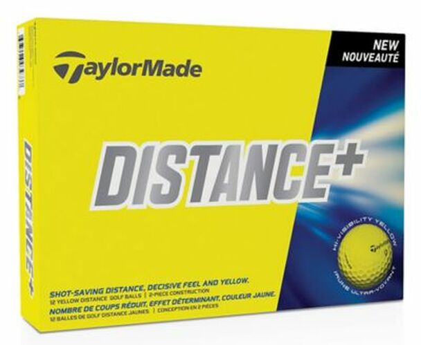 TM Distance+ Yellow Golf Balls - 1 Dozen-4035901