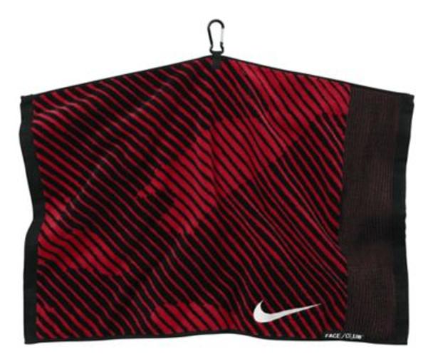 Face/Club Jacquard Towel - Black/White/Gym Red-4036004