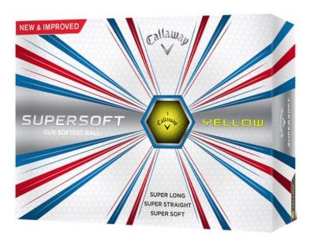 Supersoft 17 Yellow Golf Balls - 1 Dozen-4036026