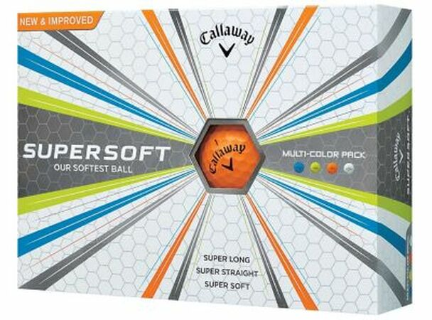 Supersoft 17 Multi-Color Golf Balls - 1 Dozen-4036027