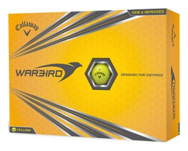 Warbird 17 Yellow Golf Balls - 1 Dozen-4036030