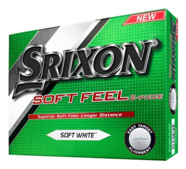 Soft Feel Soft White Golf Balls - 1 Dozen-4036039