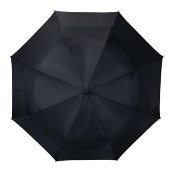 Telescoping Wind Vent Umbrellas - Black-4036093