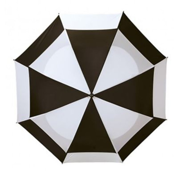 Telescoping Wind Vent Umbrellas - Black/White-4036094
