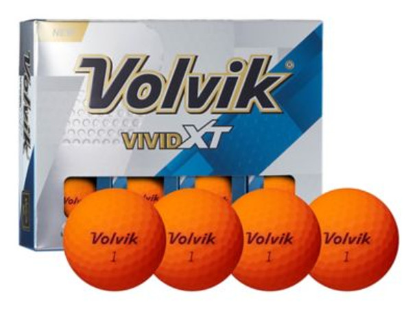 Vivid XT Orange Golf Balls - 1 Dozen-4036142