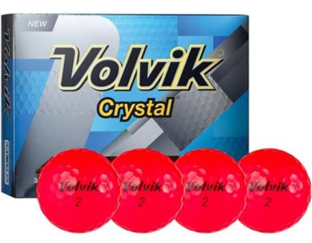 Crystal 2 Ruby Red Golf Balls - 1 Dozen-4036233