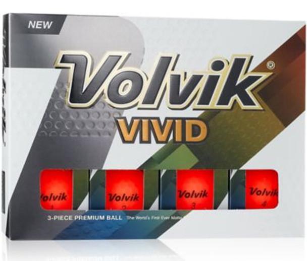 Vivid 2 Matte Orange Golf Balls - 1 Dozen-4036236
