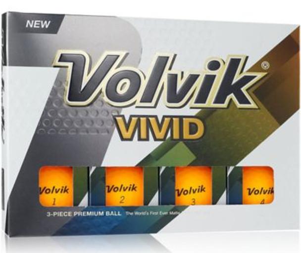 Vivid 2 Matte Sherbert Orange Golf Balls - 1 Dozen-4036239