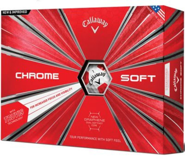 Chrome Soft 18 Truvis Red Golf Balls - 1 Dozen-4036248