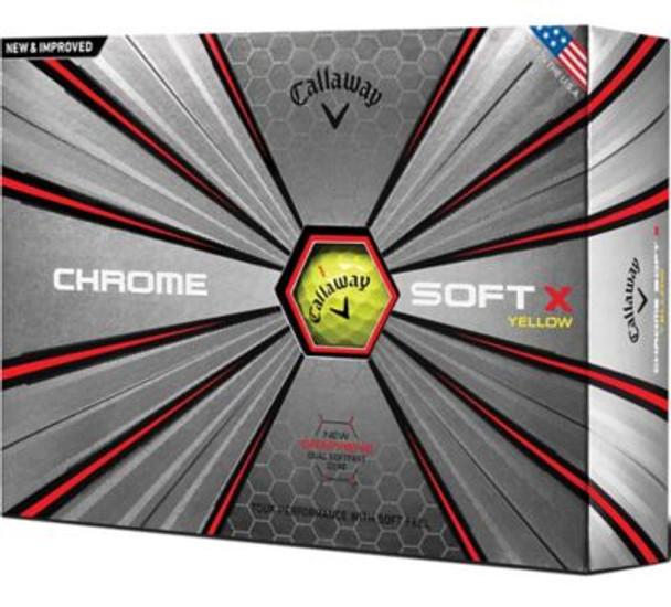 Chrome Soft X 18 Yellow Golf Balls - 1 Dozen-4036251