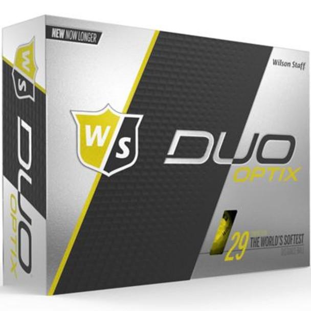 Staff Duo Soft Optix Yellow Golf Balls - 1 Dozen-4036259