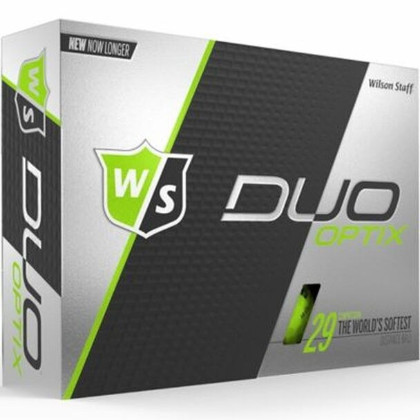 Staff Duo Soft Optix Green Golf Balls - 1 Dozen-4036260