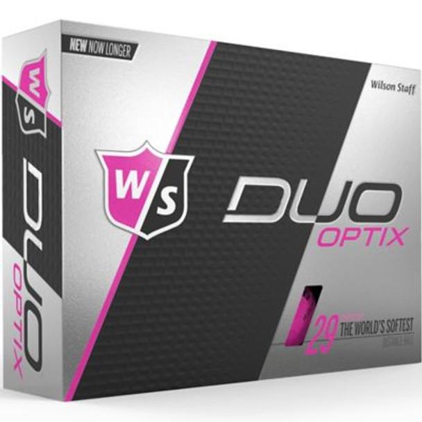 Staff Duo Soft Optix Pink Golf Balls - 1 Dozen-4036261