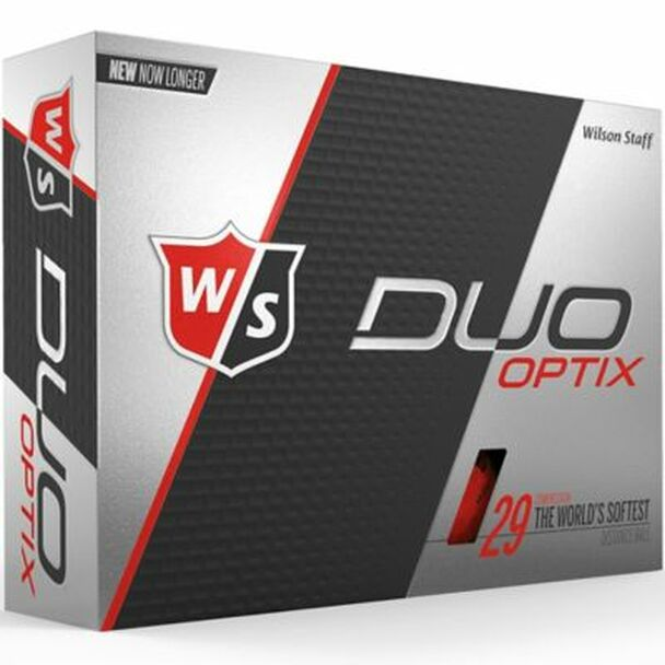 Staff Duo Soft Optix Red Golf Balls - 1 Dozen-4036262