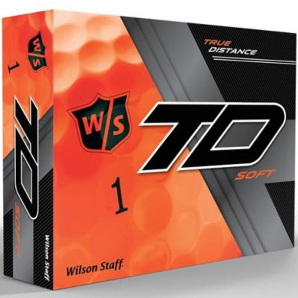 Staff True Distance Soft Orange Golf Balls - 1 Dozen-4036268