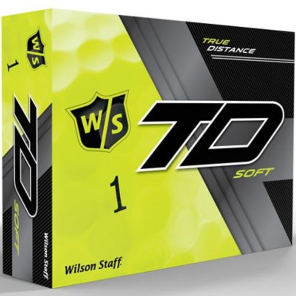 Staff True Distance Soft Yellow Golf Balls - 1 Dozen-4036269