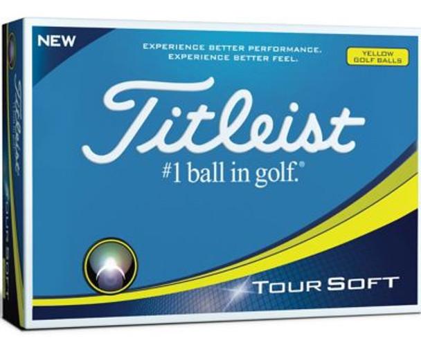 Tour Soft Yellow Golf Balls - 1 Dozen-4036284