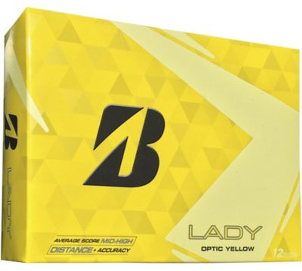 Lady Precept Yellow Golf Balls - 1 Dozen-4036290
