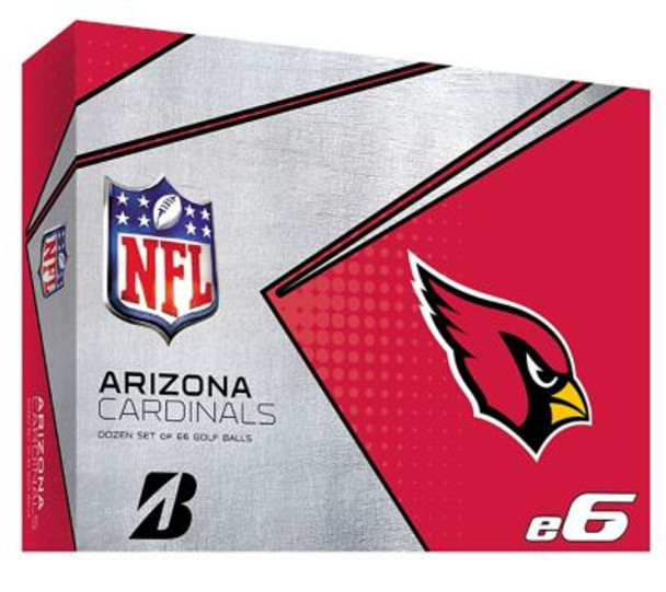 NFL e6 Arizona Cardinals Golf Balls - 1 Dozen-4036310