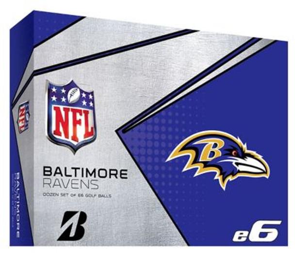 NFL e6 Baltimore Ravens Golf Balls - 1 Dozen-4036312