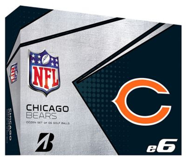 NFL e6 Chicago Bears Golf Balls - 1 Dozen-4036315