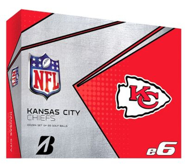 NFL e6 Kansas City Chiefs Golf Balls - 1 Dozen-4036325