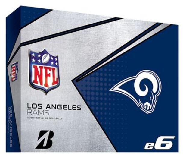 NFL e6 LA Rams  Golf Balls - 1 Dozen-4036327