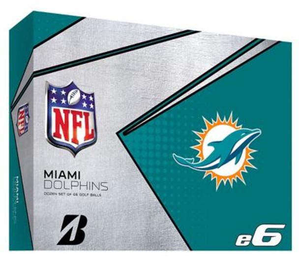 NFL e6 Miami Dolphins Golf Balls - 1 Dozen-4036328