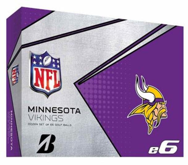 NFL e6 Minnesota Vikings Golf Balls - 1 Dozen-4036329