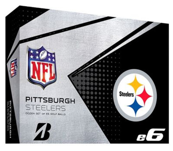 NFL e6 Pittsburgh Steelers Golf Balls - 1 Dozen-4036336