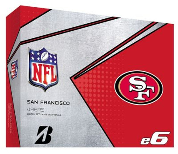 NFL e6 San Francisco 49ers Golf Balls - 1 Dozen-4036337