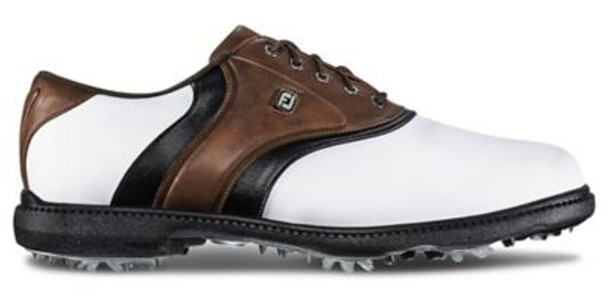 FJ Originals Men's Golf Shoes - White/Brown/Black-4036555