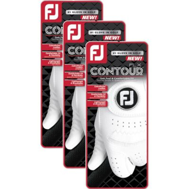 Contour FLX Men's Golf Gloves (3-Pack)-4036571