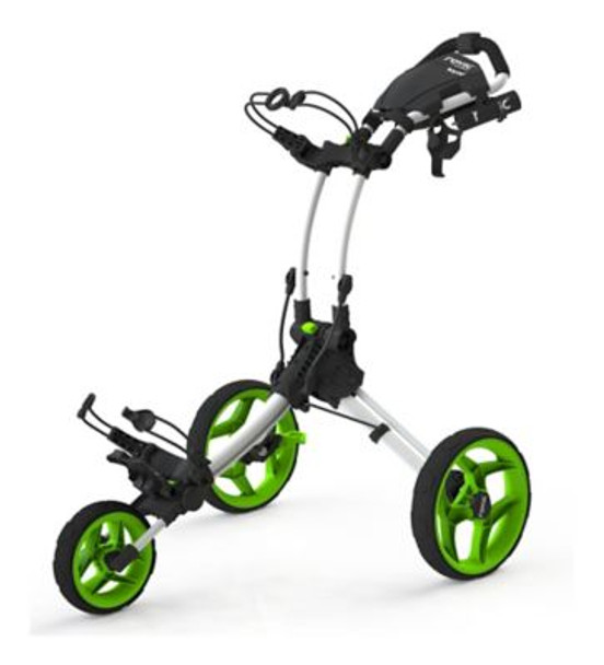 Rovic RV1C Golf Push Cart - Arctic/Lime-4036776